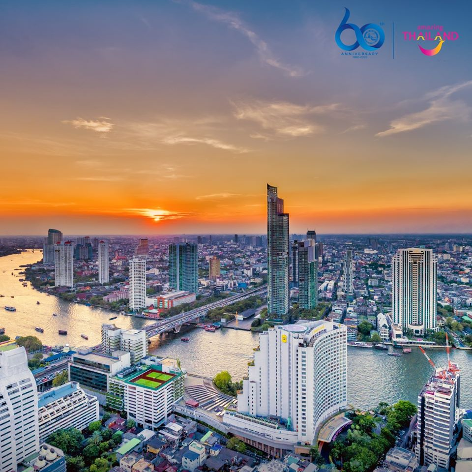 The most beautiful skyline of the Bangkok city, Thailand
